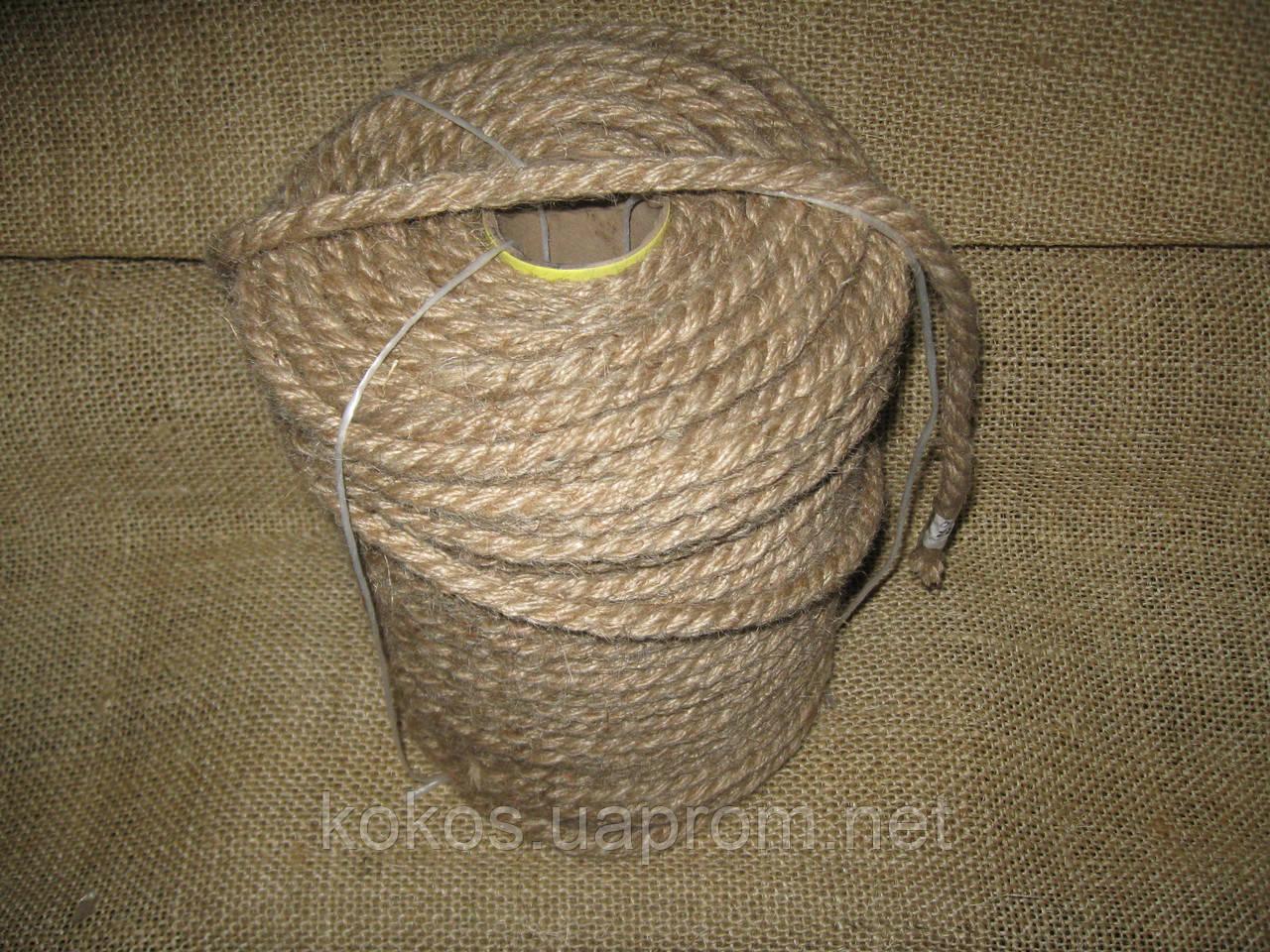 Канат джутовый тросовой свивки д.10 мм, фото 1