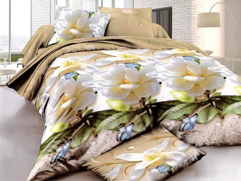 Двуспальный комплект постельного белья евро 200*220 хлопок  (7686) TM KRISPOL Украина