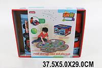 Корзина-сундук для игрушек 026A 1576080  24шт2 в 1, коврик.,в короб. 37,5529см