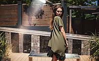 Женское  платье цвет хаки