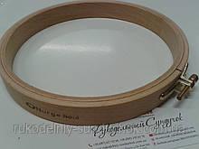Пяльцы Nurge деревянные с винтом, диаметр 190 мм (арт. 120-4)