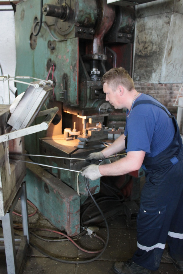 Процесс штамповки корпусов вентиля