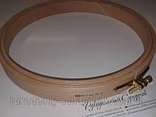 Пяльцы Nurge деревянные с винтом, диаметр 220 мм (арт. 120-5)
