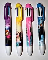 """Ручка шариковая детская 6 цветов """"Frozen"""""""