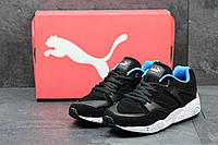 Мужские кроссовки Puma Trinomic, черные с голубым