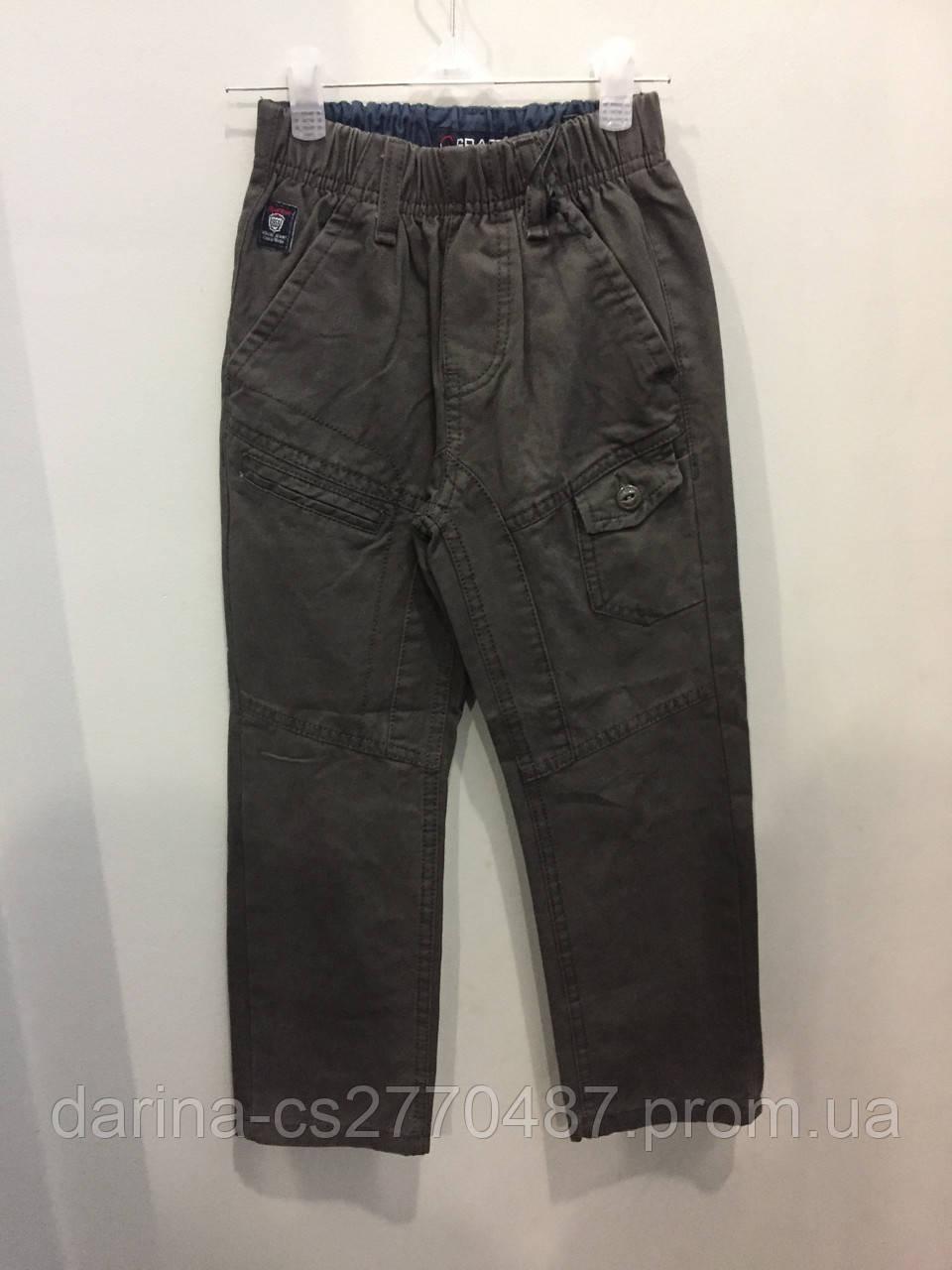 Детские коттоновые брюки для мальчика 110,122,128 см
