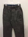 Детские коттоновые брюки для мальчика 110,122,128 см, фото 2