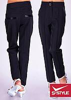 Детские брюки для девочки Элегант черные