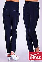 Детские брюки для девочки Элегант темно-синие