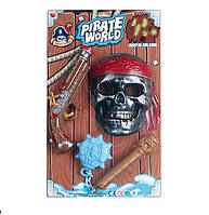 Пиратский набор B6668-3 72шт2 мушкет, маска, свет, звук, на планшетке 47285,5см