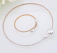Нарядный комплект украшений ожерелье и браслет код 1213