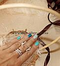 Сережки из серебра с золотом Эйфория, фото 3
