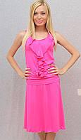 Костюм летний с юбкой розовый, фото 1