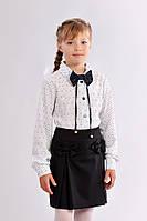 Черная юбка с бантиками для девочки 415-2