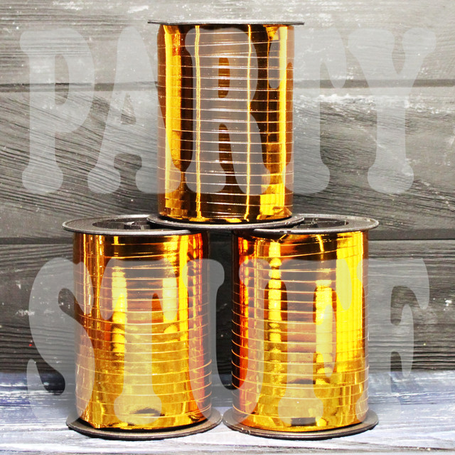 золотая лента для шаров металик