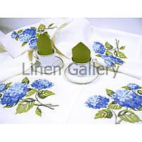 Комплект столового текстиля с вышивкой Гортензия