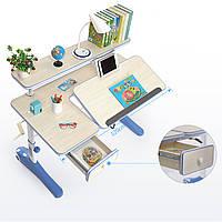 Парта детская SAEA KD17+K15 синяя для занятий и школы ученическая школьная для правильной осанки
