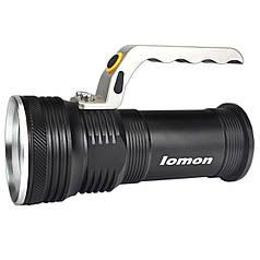 Фонарь Lomon 1003 Черный с удобной ручкой LED мощный эргономичная ручка