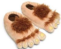 Тапочки игрушки ноги первобытного человека коричневые размер универсальный 36-42 GS694