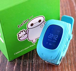Smart Baby Watch GPS Q50 детские часы с GPS Голубые