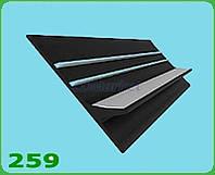 Kolibri Привальный брус  60 мм черный + оранжевый для надувных лодок Kolibri 2169