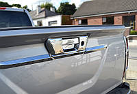Nissan Navara 2016+ Накладка на заднюю ручку (без камеры, нерж)