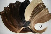 Натуральные волосы Remy на заколках. Прямые