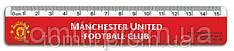 "Лінійка пластикова ""Manchester United"", 15 см"