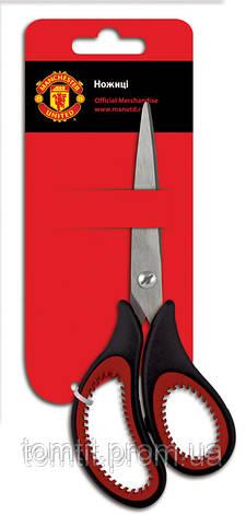 """Ножницы """"Manchester United"""" с эргономичными ручками, и логотипом на лезвии, 16,5 см, фото 2"""