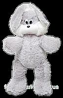Плюшевый зайка Снежок 65 см серый