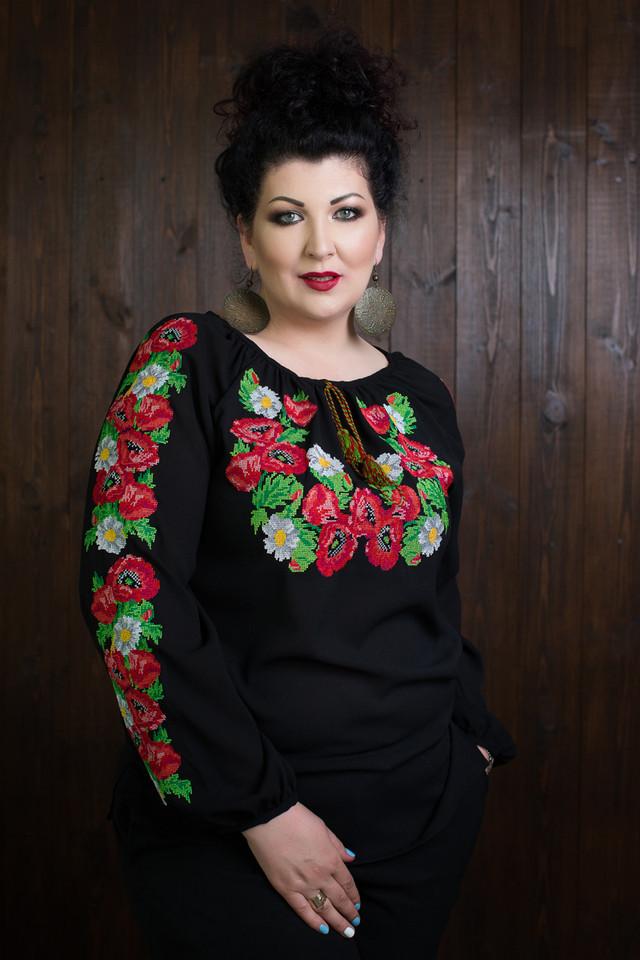 Женская вышиванка с длинными рукавами размеры 42-70