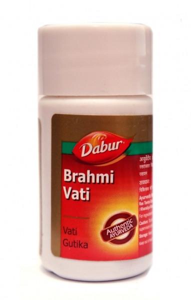 Брахми вати (Брами) — мозговой тоник, ноотроп, бессонница, злость, улучшение работы мозга, Brahmi Vati, 40tab