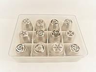 Набор кондитерских насадок из 12-ти в пластиковой упаковке(большие)