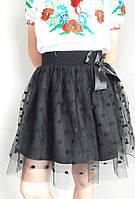 Нарядная школьная юбка с фатином