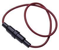 Держатель предохранителя 5,2х20мм на проводе (KLS5-237 AWG18 180mm red – KLS