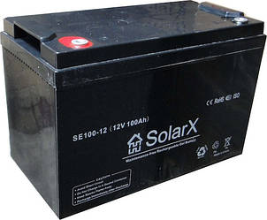 Гелевый аккумулятор SolarX SE100-12 (12V 100Ah)