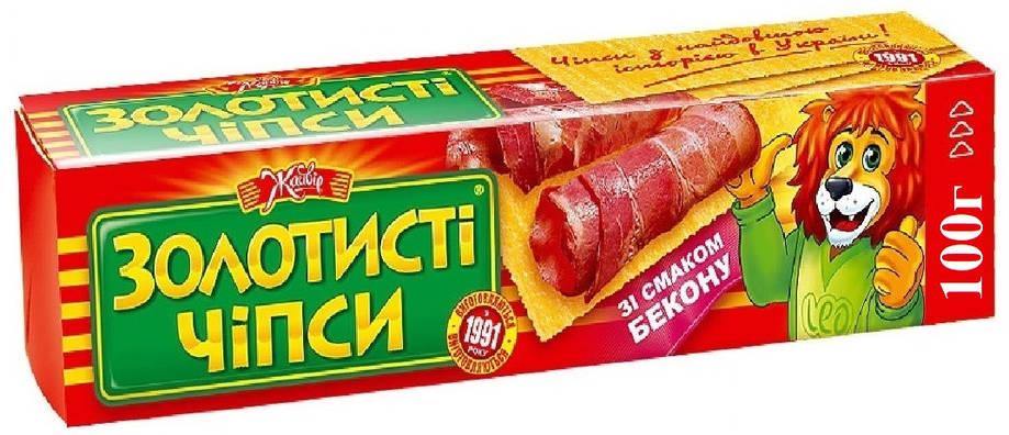 "чипсы ""Золотистые"" ""Жайвир"" 100 г. бекон, фото 2"