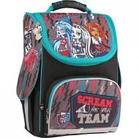 Ранец школьный каркасный 501 Monster High‑2 Kite (MH15-501-2S)