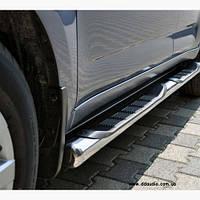 Пороги из труб для Peugeot Partner с 2008 г.