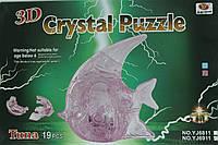 """Пазлы 3D кристальные """"Рыбка"""" 19 деталей"""