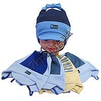 """Шапка детская для мальчиков """"Fashion"""" 1-2 года рисунок ассорти одинарный трикотаж Украина Оптом"""