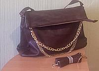 Молодежная  сумка коричневая