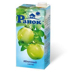 """""""Ранок"""" Нектар Яблочный 1л, фото 2"""