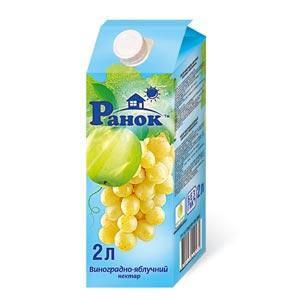 """""""Ранок"""" Нектар Виноградно-Яблочный 1,9л, фото 2"""