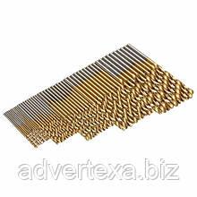 50 шт. свёрла 1/1. 5/2/2.5/3 мм с титановым покрытием HSS