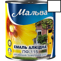 Эмаль ПФ-115 2,8кг МАЛЬВА (белый глянцевый)