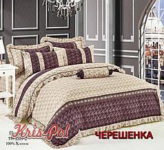 Двуспальный набор постельного белья 180*220 из Поплина №163307 KRISPOL™