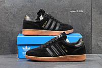 Мужские кроссовки Adidas Spezial черные замшевые, Индонезия