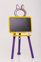 Мольберт двусторонний Active Baby Жёлто-фиолетовый