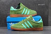 Мужские кроссовки Adidas Spezial светло зеленые замшевые, Индонезия